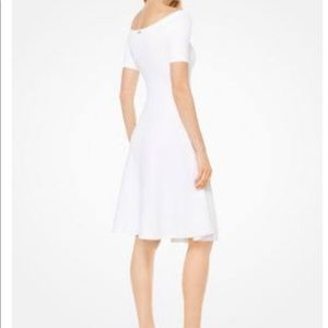Michael Kors Textured Off-The-Shoulder Dress NWT